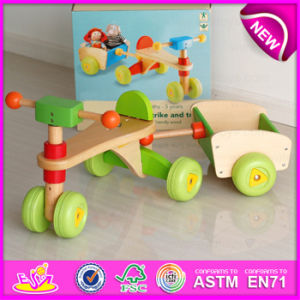 Comfortable Safe Wooden Tricycle for Kids, High Quality Solid Wood Toy Kids Wooden Tricycle for Sale W16A020 pictures & photos