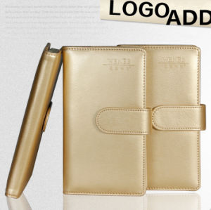 Golden A6 Size Moleskine Notebook pictures & photos