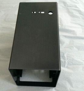 Precision CNC Machining&Black Powder Coating Aluminum Amplifier Box pictures & photos