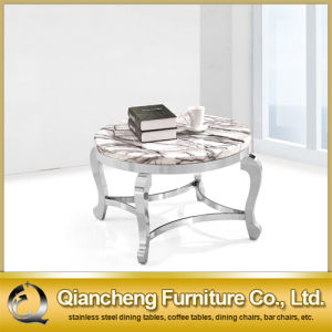 Luxury Royal Round Marble Tea Table pictures & photos