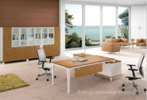Modern L Shape Wooden Office Executive Boss Table (HF-GD019) pictures & photos