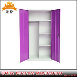 Jas-006 China Manufacture Colorful Double Door Steel Almirah Metal Storage Almirah pictures & photos