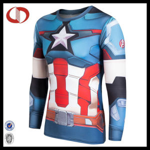 Custom Long Sleeve Compression Men Shirt pictures & photos