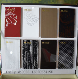 Pattern Demet Acrylic MDF for Kitchen Cabinet Door (DM-9633) pictures & photos