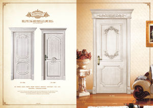 New Product Best Sale Glass Solid Wood Door with Good Quality Door Lock