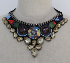 Lady Beaded Crystal Custume Imitation Necklace Jewelry (JE0164-2) pictures & photos