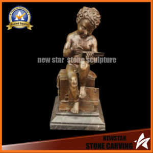 Bronze Sculpture Art Decoration Hot Cast Marble Base Figurine pictures & photos
