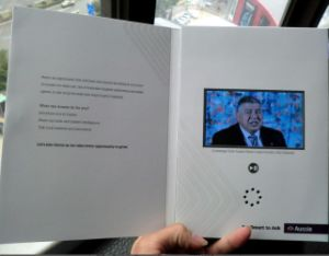 A5 Brochure 4.3 Inch TFT LCD Video Greeting Card, LCD Video Cards, Video Brochure pictures & photos