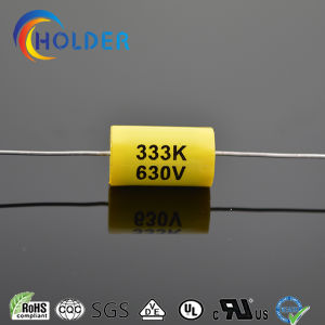 Axial Metallized Polyester Capacitor (333k 630VDC) for Running Yellow Mpt with RoHS VDE Ce CQC Reach Cl20 pictures & photos