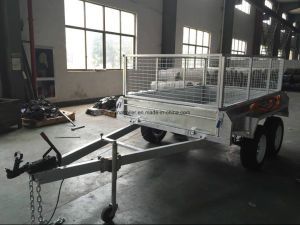 Australia Standard 10X6 Hot Dipped Galvanised Fully Weld Tandem Box Trailer with Cage pictures & photos
