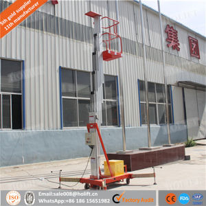 Aluminium Mobile 8m Portable Single Mast Small Lifts Price pictures & photos