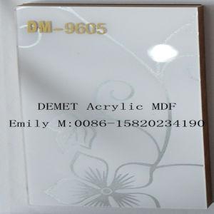 Flower Demet Acrylic MDF for Kitchen Cabinet Door (DM-9605) pictures & photos