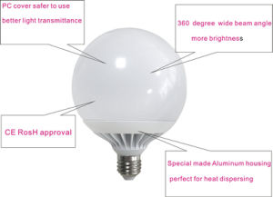 100lm/W 360 Degree G95 G120 LED Globe Bulb 18W 24W E27 pictures & photos