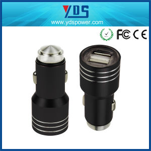 5V 2.4A Metal Safety Hammer Mobile Phone Dual USB Car Charger pictures & photos