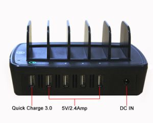 Quick Charger 3.0 USB Charging Station 5 Port USB Charger pictures & photos