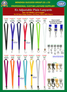 Adjustable Plain Lanyards pictures & photos