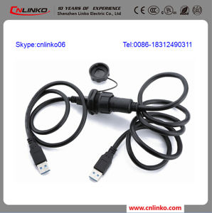 USB Panel Mount Adapter IP67 USB Female Type a Connectors pictures & photos