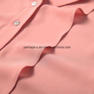 Fashion Pure Color Ladies Shirt Fashion Sleeveless Blouse Women Clothes pictures & photos