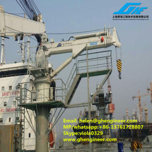 2.6ton Electro-Hydraulic Telescopic Boom Deck Crane Remote Control Optional pictures & photos
