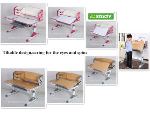 Friendly-Environment Height Adjustable Child Furniture for Sale Children Desk pictures & photos