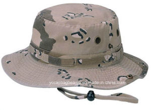 Cotton Military Blue Camo Wholesale Bucket Hats pictures & photos