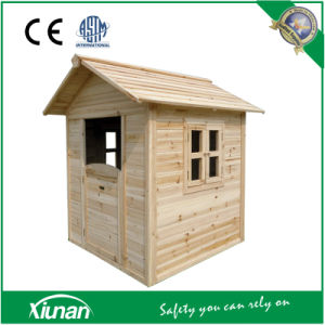 Tsc04 Indoor and Outdoor Wooden Cubby Playhouse for Children pictures & photos