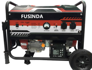 Fusinda 2.5kw Electric Portable Gasoline Generator with Handle and Wheels pictures & photos