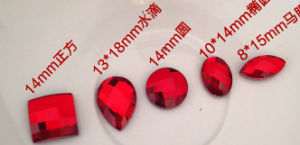 Red Small Flat Back Nail Art Design Stones Beads pictures & photos