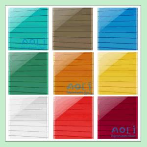 Zhejiang Aoci Twin Wall PC Hollow Sheet Green pictures & photos