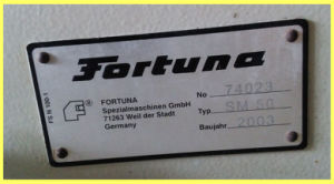 Used Germany Fortuna Small Leather Skiving Machine (SM50) pictures & photos