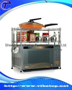DIY Microwave Shelf Kitchen Storage Rack (VHK-023) pictures & photos