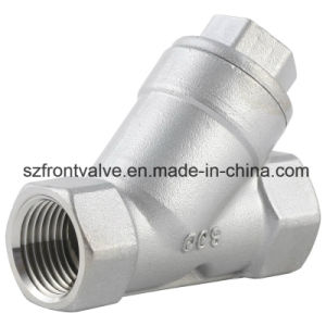 Precision Casting Stainless Steel Threaded Y-Strainer pictures & photos