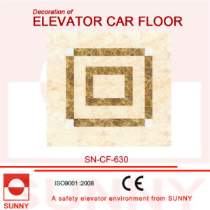 Splicing Design PVC Floor for Elevator Cabin Decoration (SN-CF-630) pictures & photos