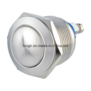 19mm Domed Head Screw Terminal Stainless Steel Push Button Switch pictures & photos