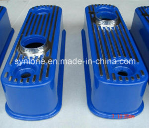 Die Casting Aluminum Housing with Spray Painted on Surface, OEM Rocker Cover Polished 256b pictures & photos