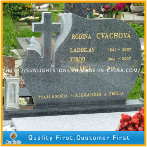High Polished G654 Grey Granite Tombstone with Competitive Price pictures & photos