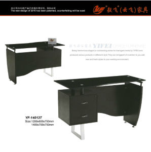 Staff Glass Desk