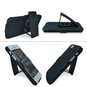 Universal Belt Clip Holster Combo Cellphone/Mobile Case with Kickstand for iPhone 5 pictures & photos