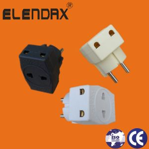 Power Socket Plug Travel Charger Adapter Converter 10A White Europlug Type (P7045) pictures & photos