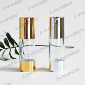 15g 30g 50g as Plastic Transparent Airless Cosmetic Bottle with Lotion Pump (PPC-NEW-021) pictures & photos