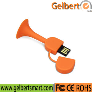 Best Price Silicone Trumpet USB Pen Drive for Gifts pictures & photos