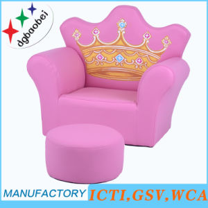 Fashion Crown Buckle House Amusement Kids Sofa and Ottoman (SXBB-17-02) pictures & photos
