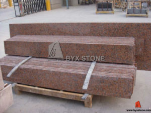 G562 Maple Red Granite Tile Steps/Stairs for Flooring pictures & photos