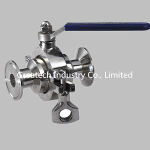 Stainless Steel Ss304 and Ss316L Zero-Retention Ball Valve Clamp Ends