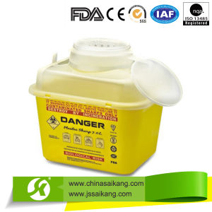 Hospital Sharps Containers Needle Disposal Holder (SKQ001) pictures & photos
