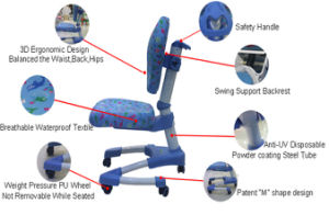 Wholesale Bedroom Study Ergonomic Chair for Children Smart Furniture pictures & photos