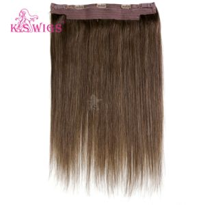 Wholesale Double Drawn 100% Human Halo Hair Extension pictures & photos