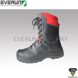 CE EN ISO 17249 Cut Resistant Safety Shoes Chainsaw Boots pictures & photos