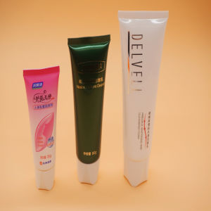 Hand Cream Cosmetic Plastic Packaging Tube with White Flip-Top Cap pictures & photos