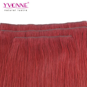 Colored Brazilian Straight Clip in Hair Extension pictures & photos